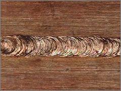 銅の突合せ溶接(厚さ:1㎜)